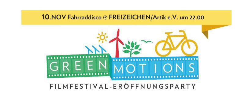Greenmotions Eröffnungsparty: Fahrraddisko | Freitag, 10.11.17