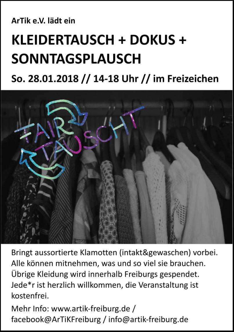 FAIRtauscht – SonntagsplauschDokusKleidertausch || Sonntag, 28.01.18