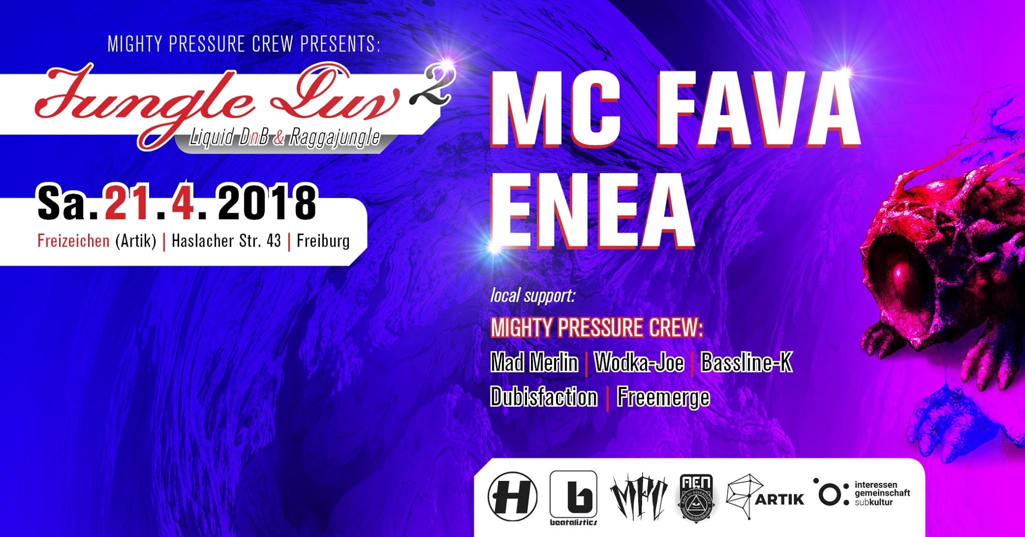 Jungle Luv #2 w/ MC FAVA & ENEA || Samstag, 21.04.18