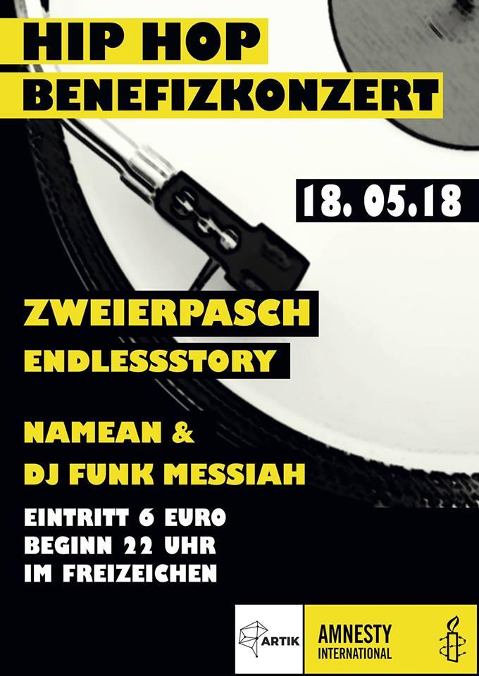 Amnesty&ArTik HIP HOP Benefizkonzert || Freitag, 18.05.18