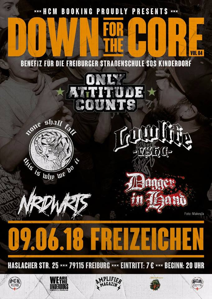Down For The Core Vol. 4 w/ ONLY ATTITUDE COUNTS and more || Samstag, 09.06.18