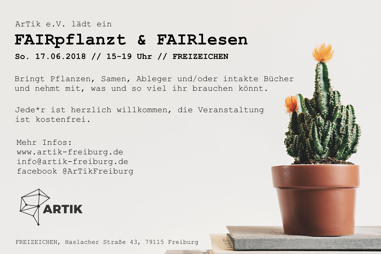 FAIRpflanzt & FAIRlesen || Sonntag, 17.06.18