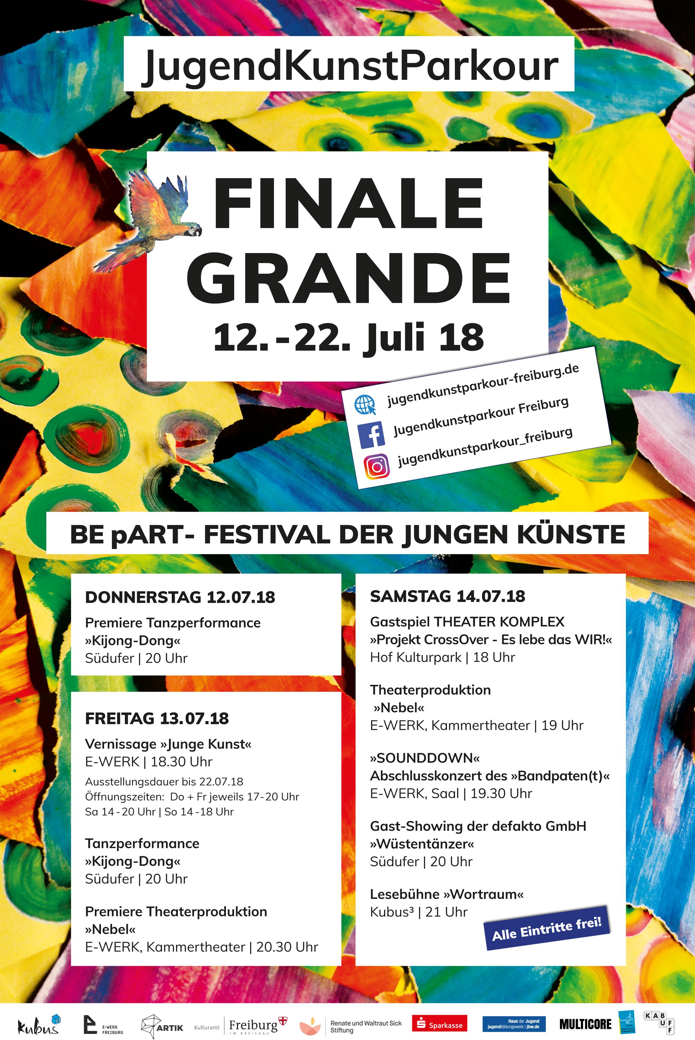 FINALE GRANDE – BE pART – Festival der jungen Künste || 12.07.-22.07.18