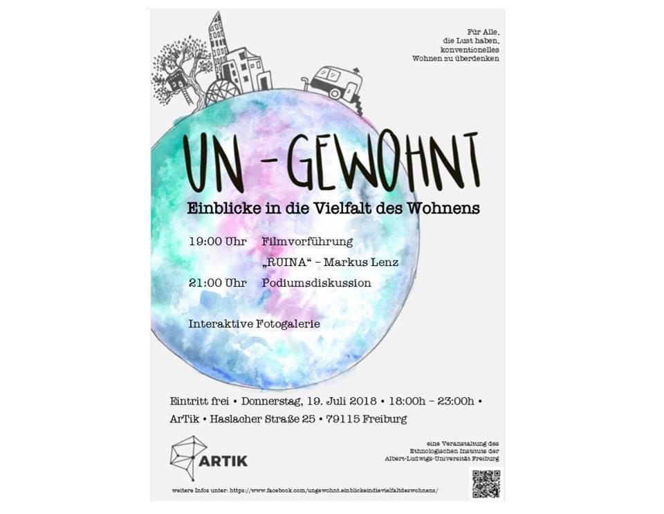 UN-GEWOHNT: Einblicke in die Vielfalt des Wohnens || Donnertsag, 19.07.18