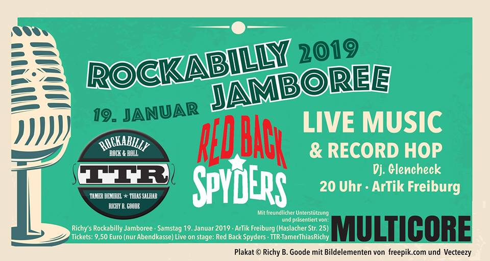 Rockabilly Jamboree 2019 – Live Music & Vinyl Record Hop || 19.1.19