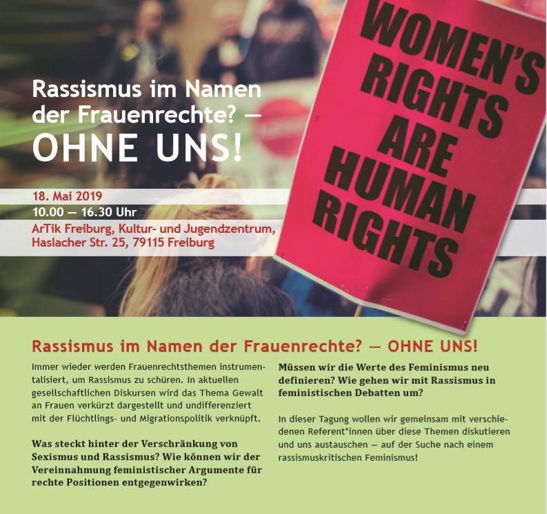 Rassismus im Namen der Frauenrechte? OHNE UNS!    18.5.19